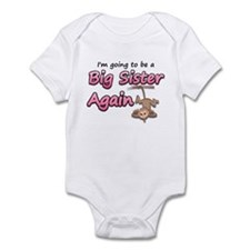 Hanging monkey-big sister aga Infant Bodysuit