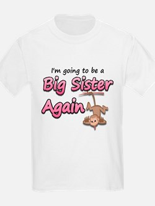 Hanging monkey-big sister aga T-Shirt
