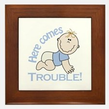Here Comes Trouble! Framed Tile