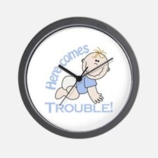 Here Comes Trouble! Wall Clock