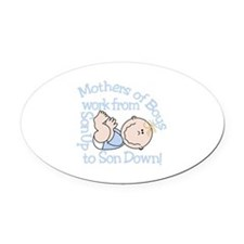 Mothers Of Boys Oval Car Magnet