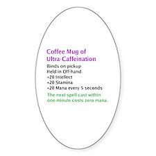 Epic Coffee Mug Oval Decal