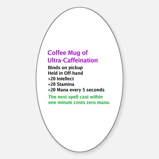 Epic Coffee Mug Oval Decal