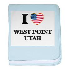 I love West Point Utah baby blanket