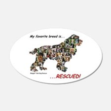 My Favorite Breed Is Rescued Wall Decal