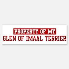 Property of Glen of Imaal Ter Bumper Bumper Bumper Sticker