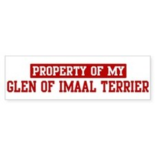 Property of Glen of Imaal Ter Bumper Bumper Sticker