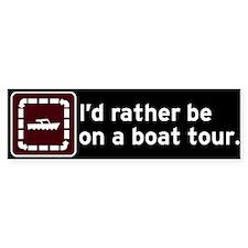 Boat Tour Bumper Bumper Sticker