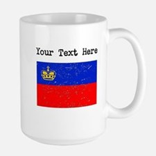 Liechtenstein Flag (Distressed) Mugs