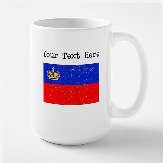 Liechtenstein Flag (Distressed) Mugs