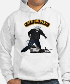 Calf Roping-2 with Text Hoodie
