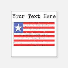 Liberia Flag (Distressed) Sticker