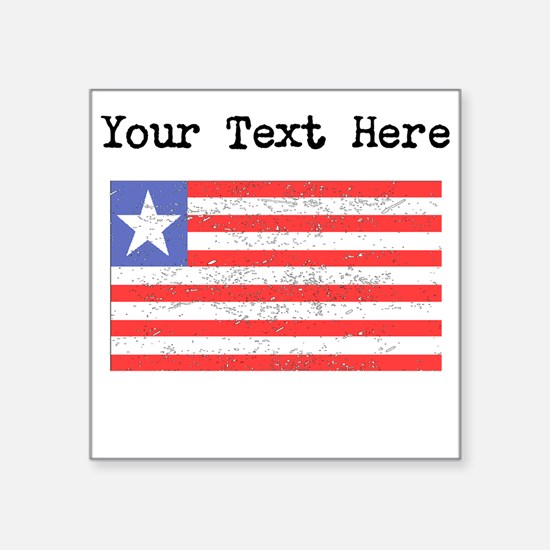 Liberia Flag (Distressed) Sticker