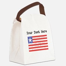 Liberia Flag (Distressed) Canvas Lunch Bag