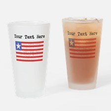 Liberia Flag (Distressed) Drinking Glass