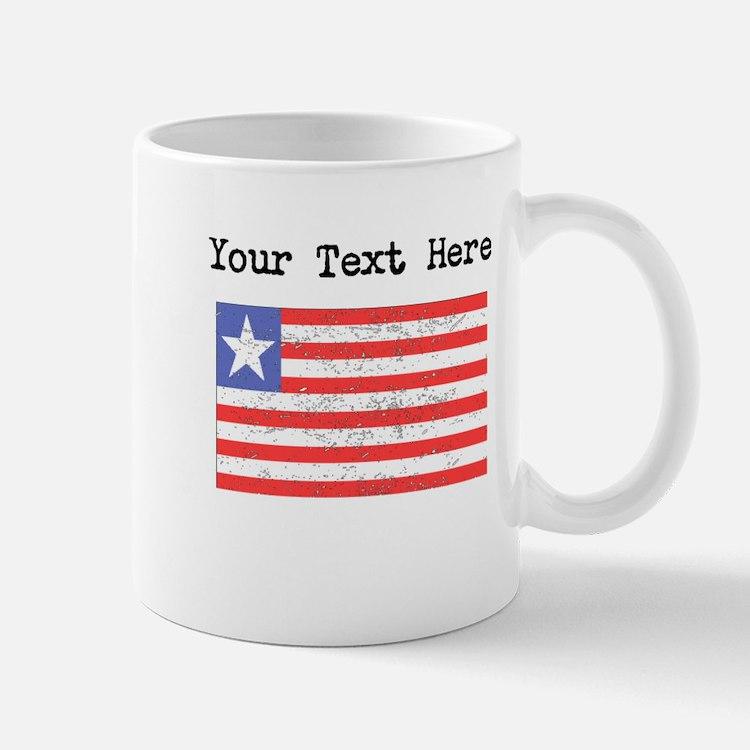 Liberia Flag (Distressed) Mugs
