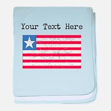 Liberia Flag (Distressed) baby blanket