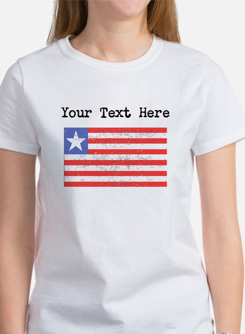 Liberia Flag (Distressed) T-Shirt