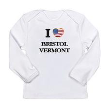 I love Bristol Vermont Long Sleeve T-Shirt