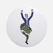 Highland Dancer Ornament (Round)