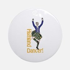 Highland Dancer Ornament (Round)