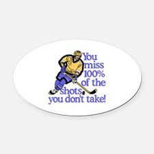 100% Of The Shots Oval Car Magnet