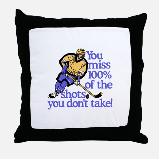 100% Of The Shots Throw Pillow
