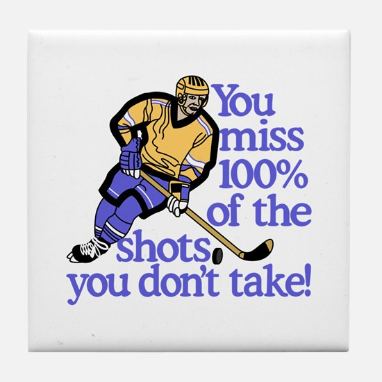 100% Of The Shots Tile Coaster