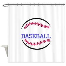 Baseball Name Drop Shower Curtain