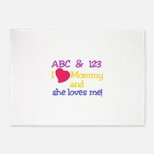 I Love Mommy 5'x7'Area Rug