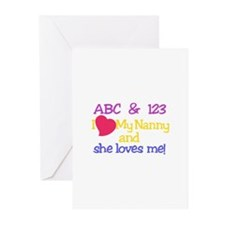 My Nanny And She Loves Me! Greeting Cards