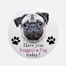 Pug Hug Ornament (Round)