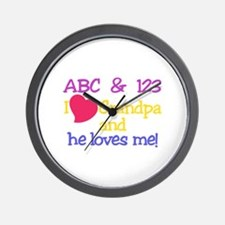 Grandpa And He Loves Me! Wall Clock