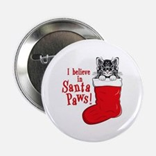 Santa Paws Kitty Button