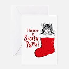 Santa Paws Kitty Greeting Card