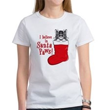 Santa Paws Kitty Tee
