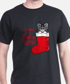 Santa Paws Kitty T-Shirt