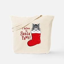 Santa Paws Kitty Tote Bag