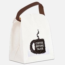 COFFEE BEFORE TALKIE Canvas Lunch Bag