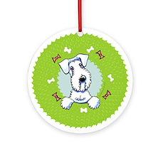 Sealyham Terrier Christmas Wreath Ornament (Round)