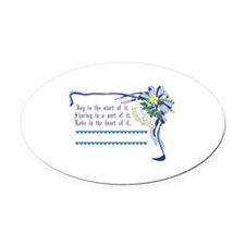 Wedding Blessing Oval Car Magnet