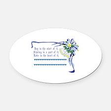 Wedding Blessing Oval Car Magnet