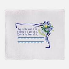 Wedding Blessing Throw Blanket