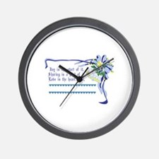 Wedding Blessing Wall Clock