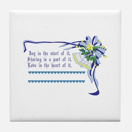 Wedding Blessing Tile Coaster
