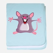 Happy Greeter Mouse baby blanket
