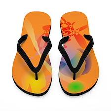 Orange Composition Flip Flops