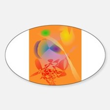 Orange Composition Decal