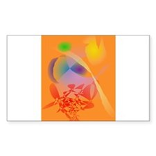 Orange Composition Decal