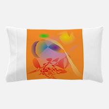 Orange Composition Pillow Case